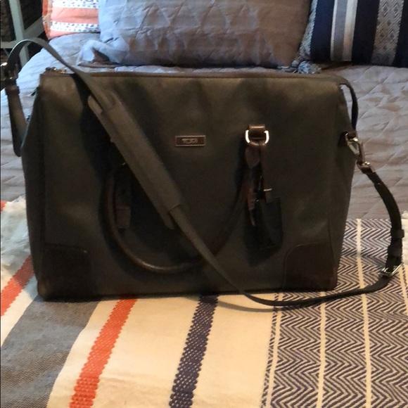 Tumi Bags   Genuine Leather Bag With Padded Laptop Sleeve   Poshmark 2d716c37c7